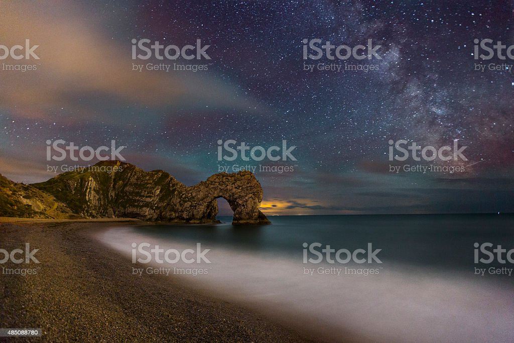 Durdle Door at Night stock photo