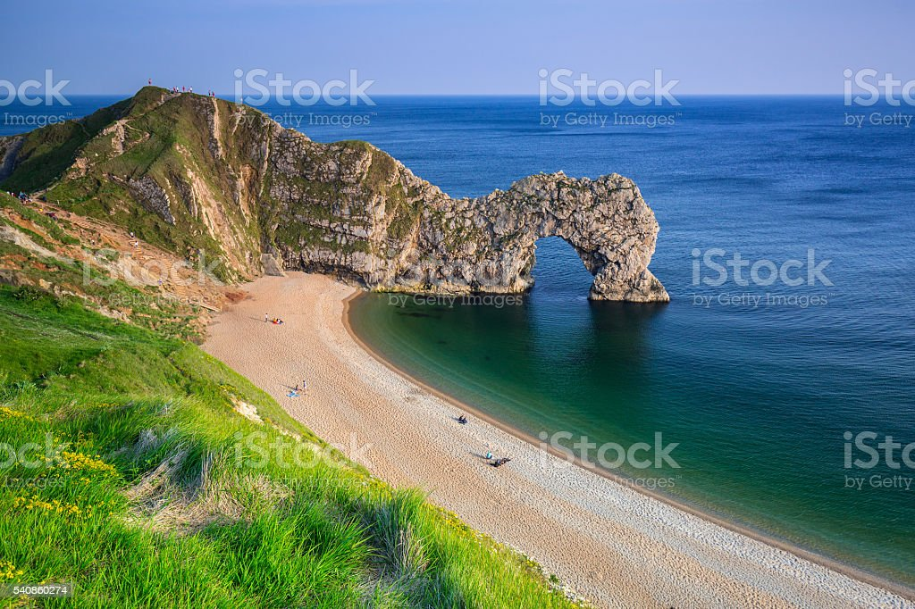 Durdle Door At The Beach Of Dorset UK Royalty-free Stock Photo & Durdle Door Location u0026 People On The Beach Show The Scale Of The ... pezcame.com