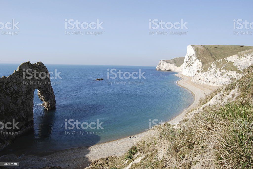 Durdle Door near West Lulworth in England stock photo