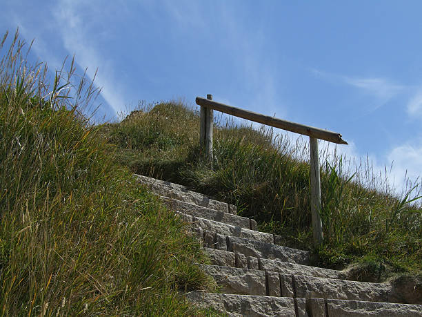 durdle door steps - belkindesign stock pictures, royalty-free photos & images