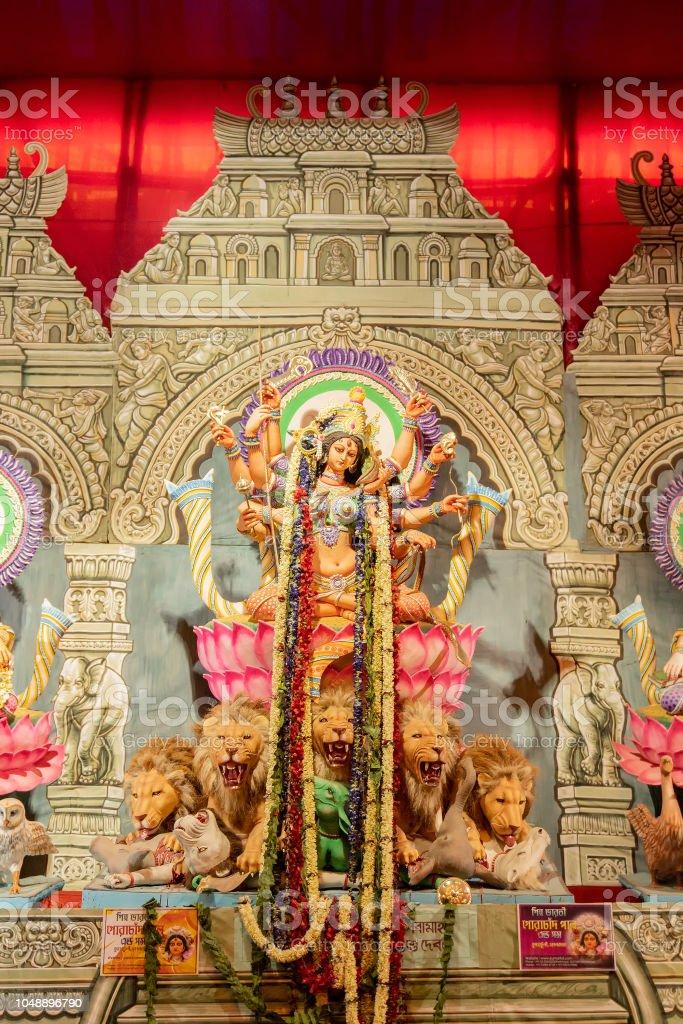Durga Puja idol in Pandal, Durga-Puja-Fest – Foto
