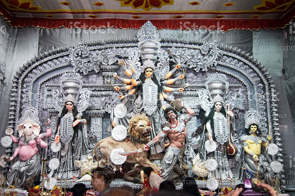 Durga idol at puja pandal durga puja festival stock photo more durga idol at puja pandal durga puja festival royalty free stock photo altavistaventures Choice Image
