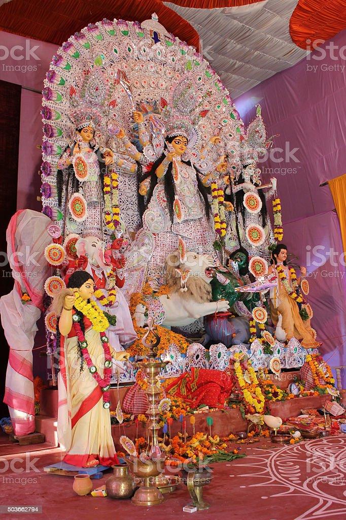 Durga puja festival celebration stock photo