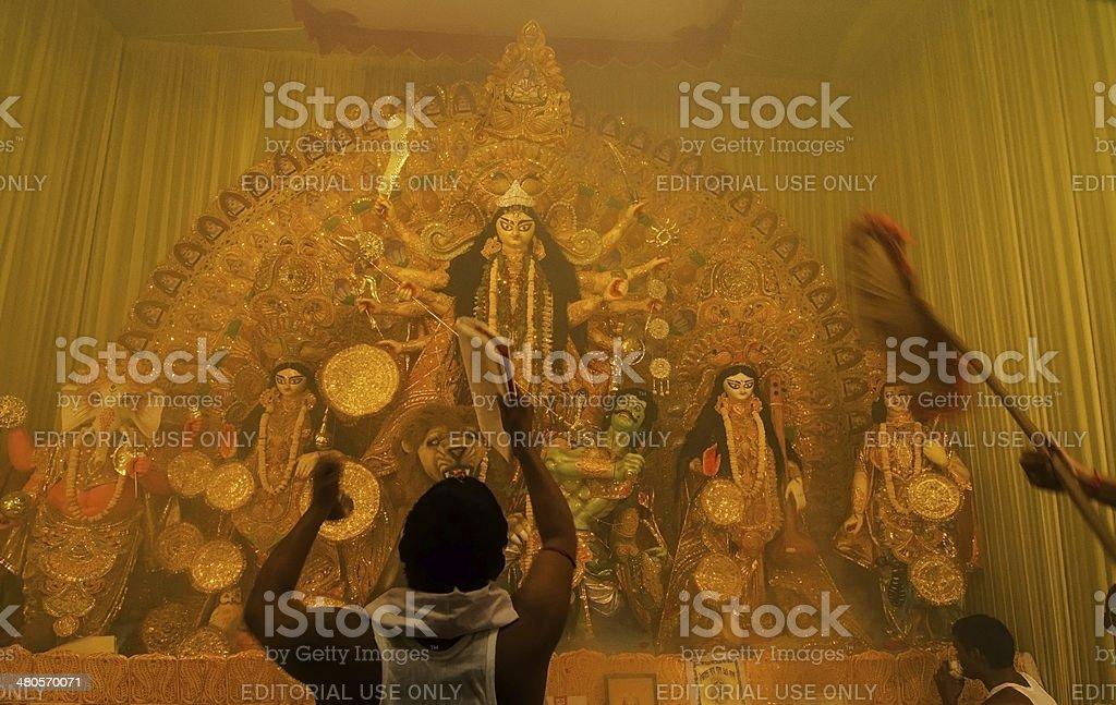 Kolkata India October 11 2013 Durga Puja Festival Stock