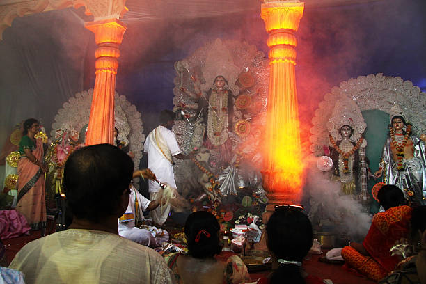 Durga Puja in India stock photo