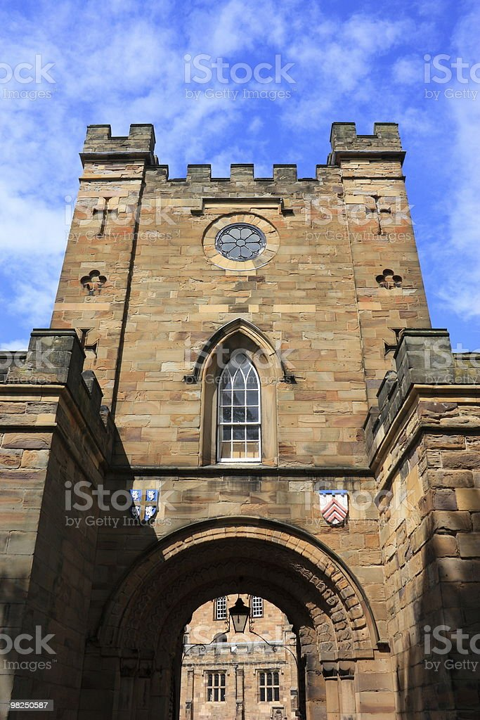 Durham Castle Gate royalty-free stock photo