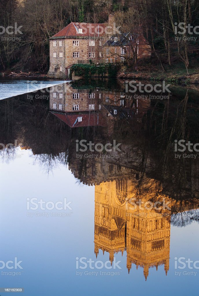 Durham Cathedral and river Wear royalty-free stock photo