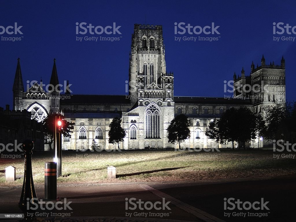 Durham Cathedral at night royalty-free stock photo