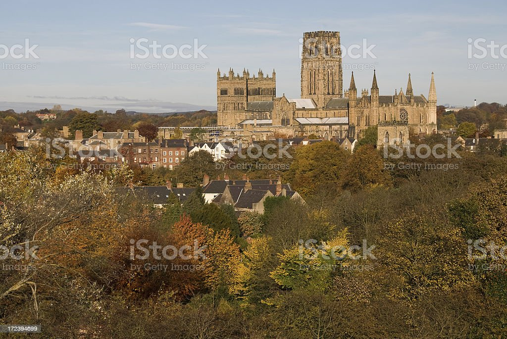 Durham Cathedral in Autumn royalty-free stock photo