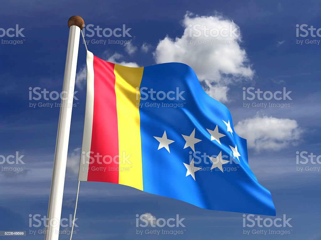 Durham City flag stock photo