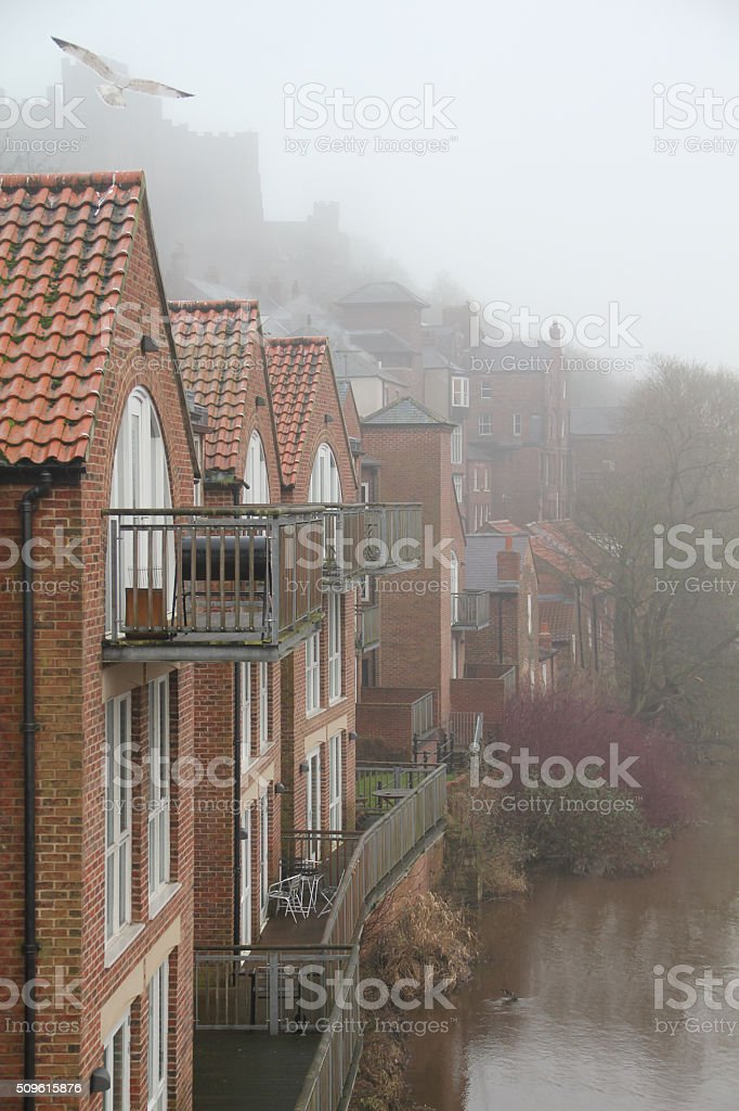 Durham City Houses On The River Wear Stock Photo More Pictures Of