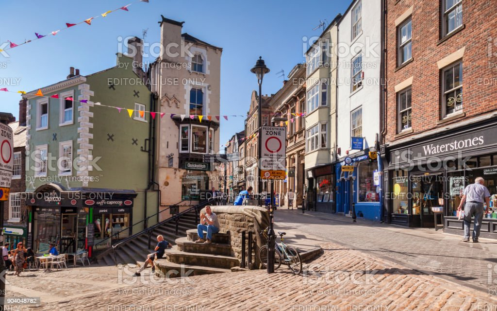 Durham City Saddler Street Shopping Stock Photo More Pictures Of