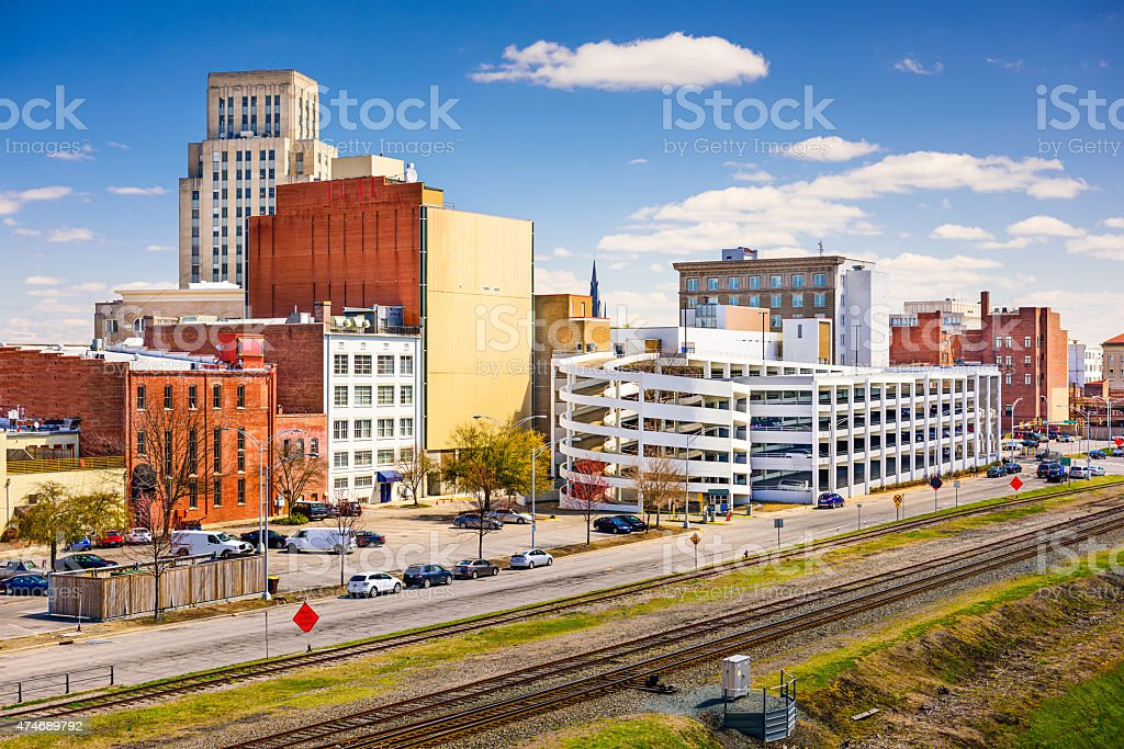 Durham Cityscape stock photo