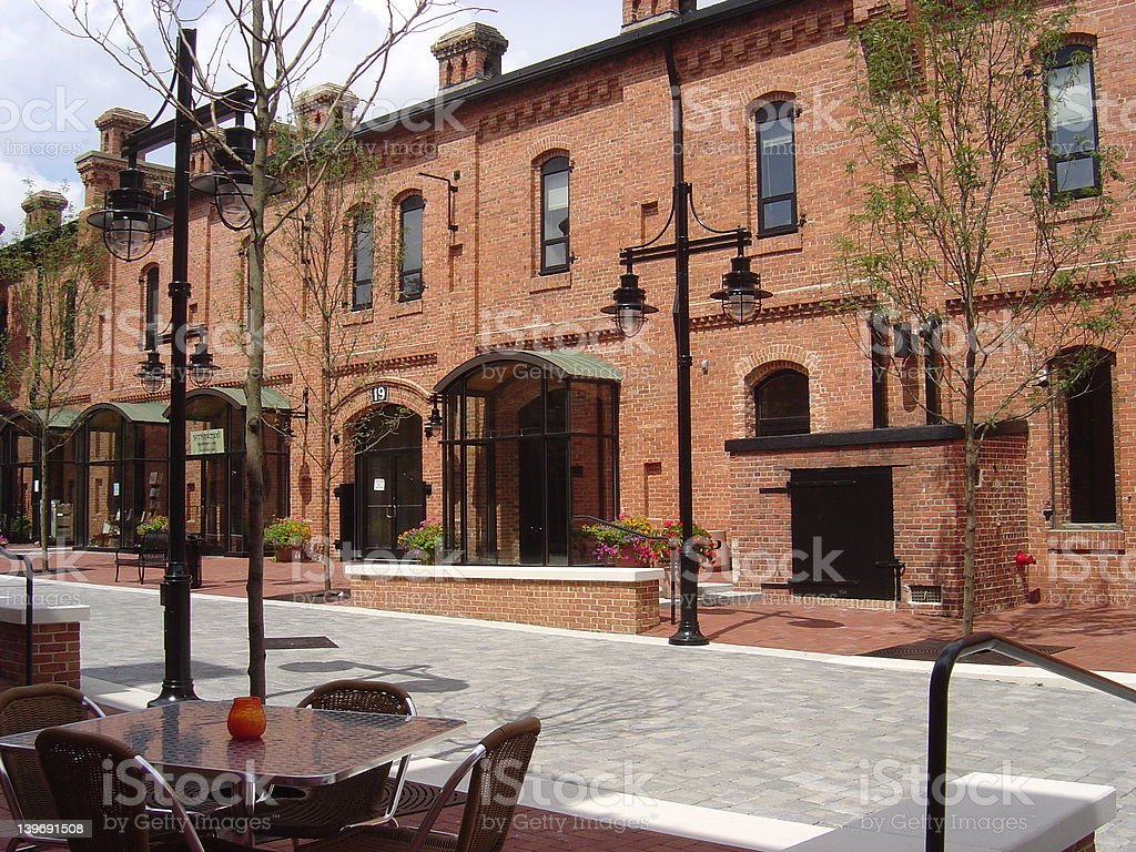 Durham Commercial Area stock photo