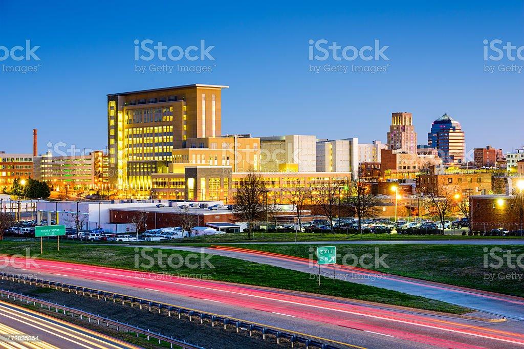 Durham, North Carolina Cityscape stock photo