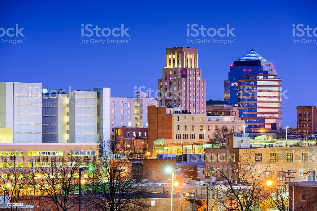 Durham, North Carolina Skyline stock photo