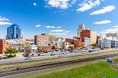 istock Durham, North Carolina, USA downtown cityscape. 1082011562