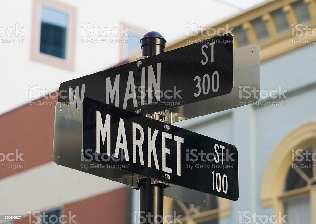Durham Street Signs stock photo