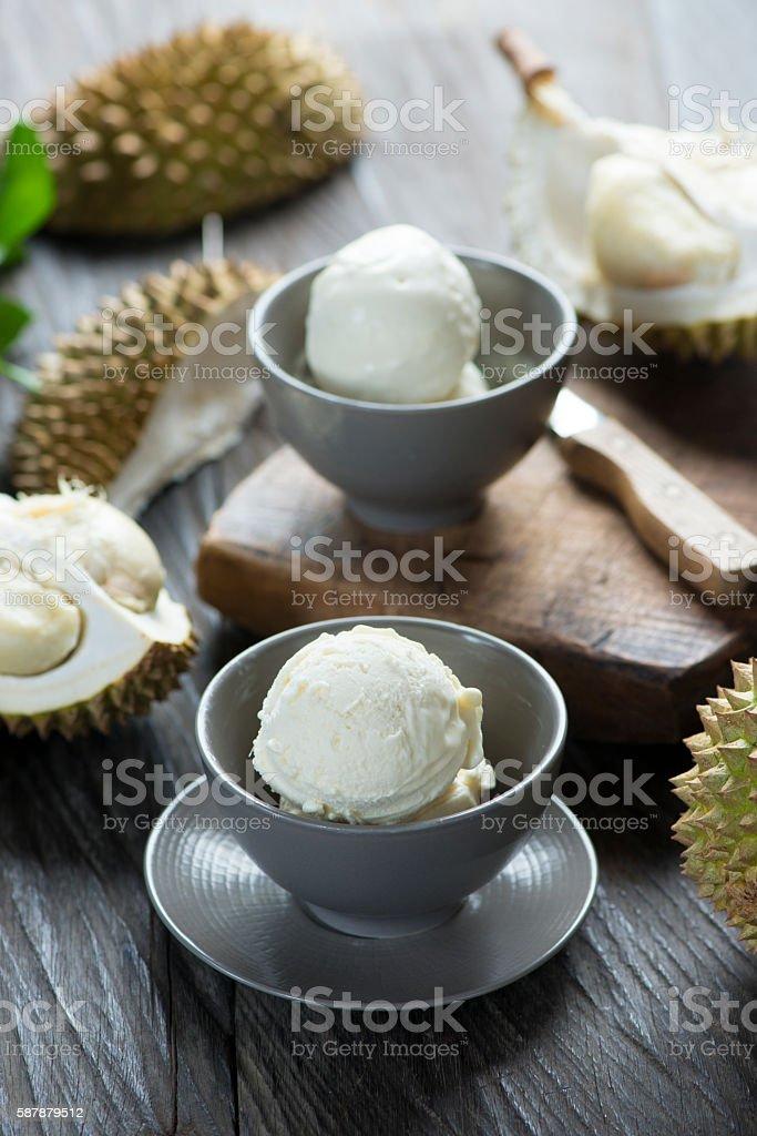 Durian ice cream stock photo