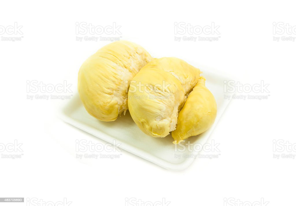 durian isolated on white background. stock photo