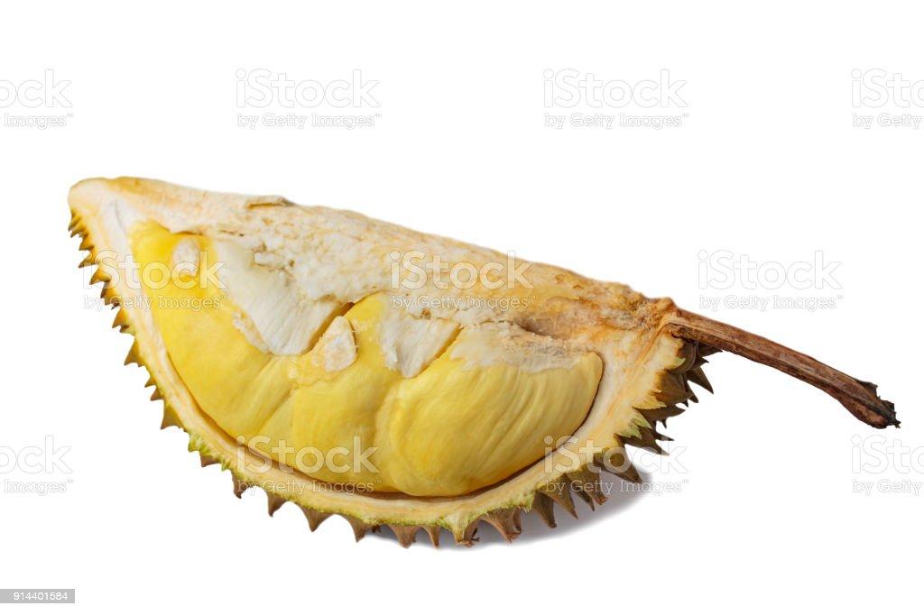 Durian isolated on white background. stock photo