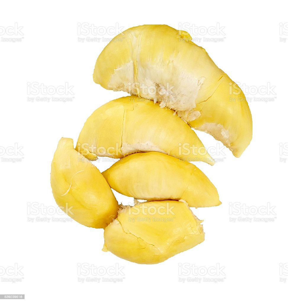 Durian , King of Fruits on white background royalty-free stock photo