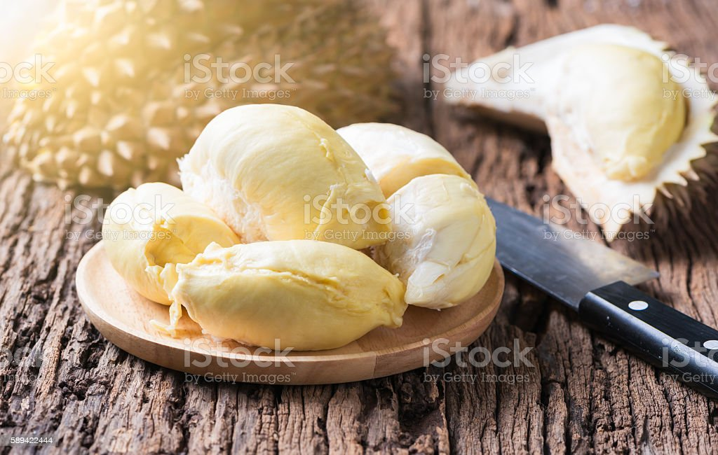 durian, King of fruits. stock photo