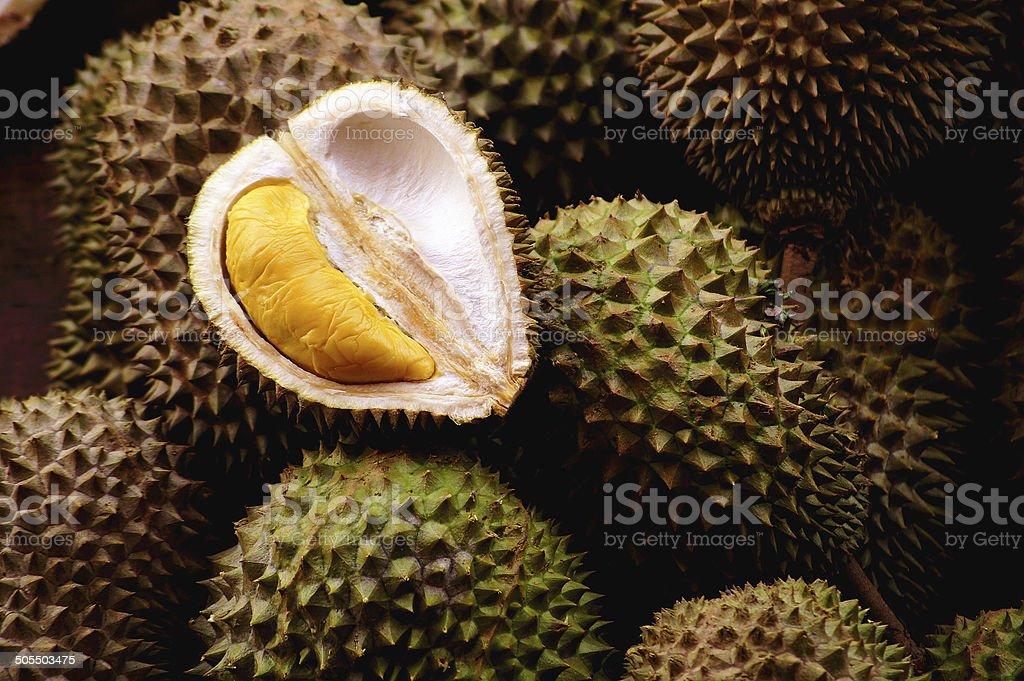 Durian Season In Malaysia stock photo