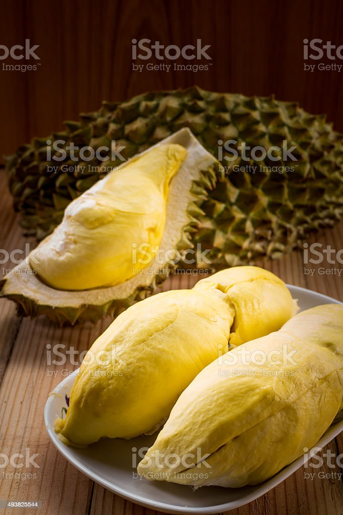 Durian, the king of fruits in Thailand. stock photo