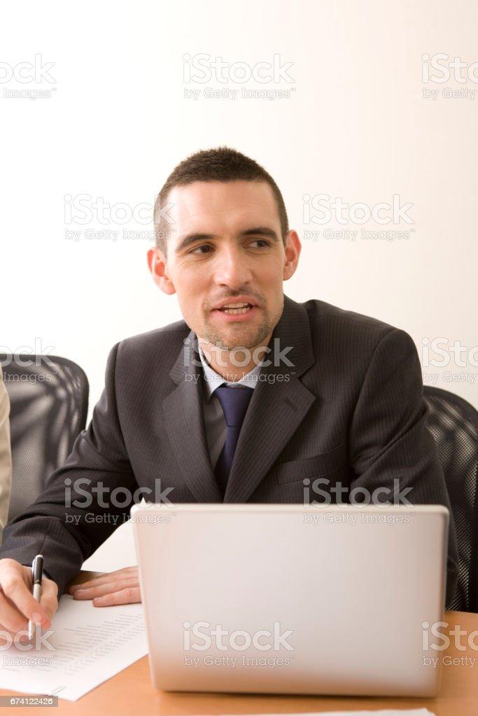 在一次外國商人 免版稅 stock photo