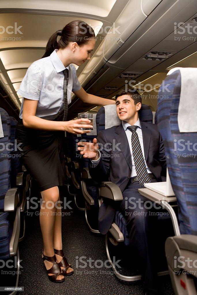 During flight stock photo