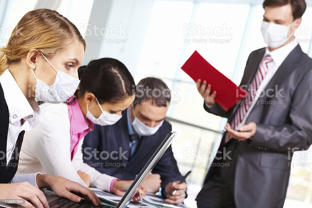 During flu epidemy royalty-free stock photo