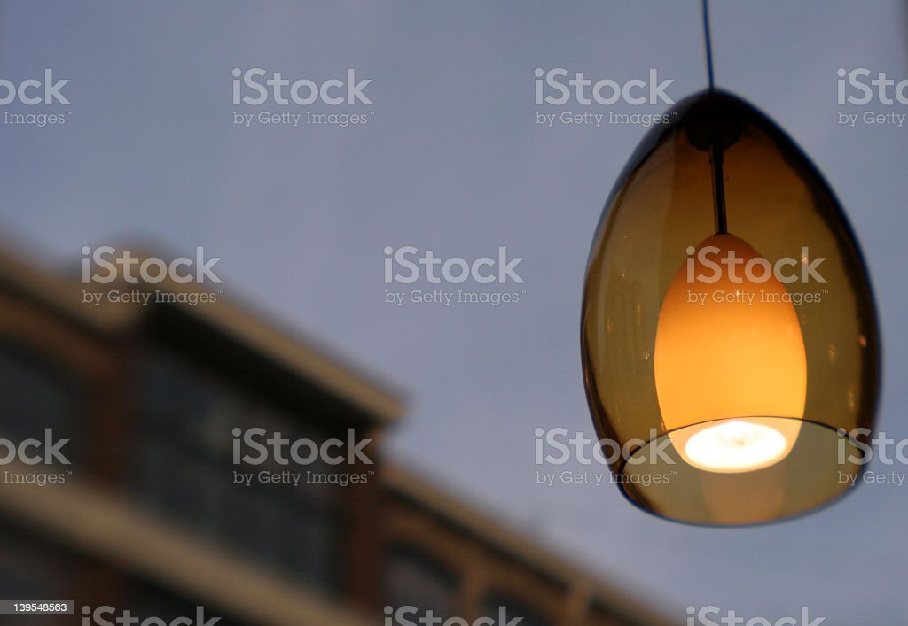 pendant light stock photo