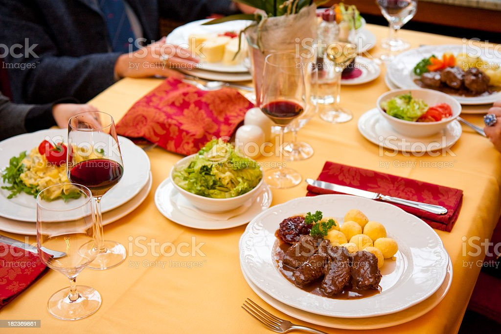 During meal royalty-free stock photo