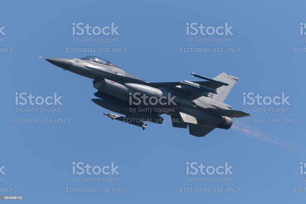 Een RNLAF F-16 tijdens de oefening Frisian Flag foto