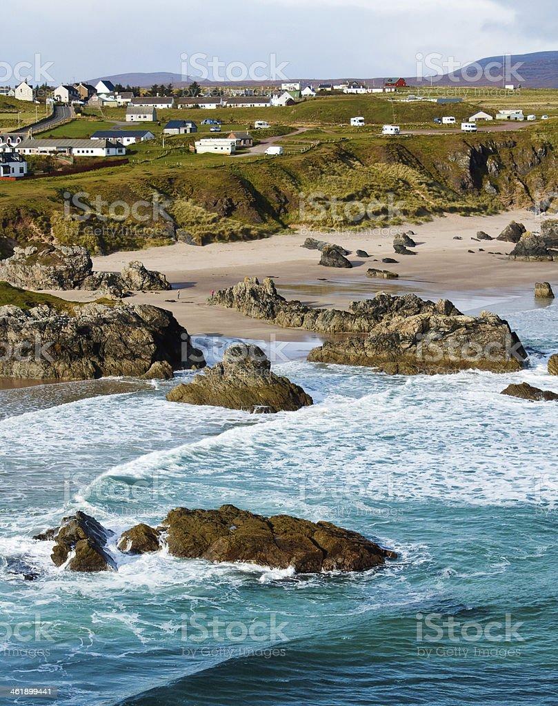 Durness Beach stock photo