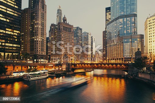 istock DuSable bridge at twilight, Chicago. 599123964