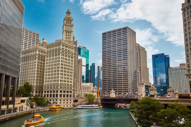 puente dusable, chicago - edificio hancock chicago fotografías e imágenes de stock
