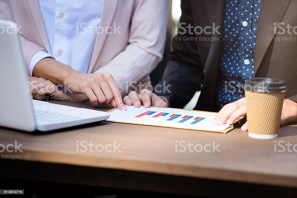 Duscussing business stock photo