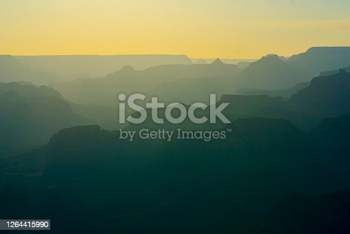 Grand Canyon at sunset as seen from Lipan Point.