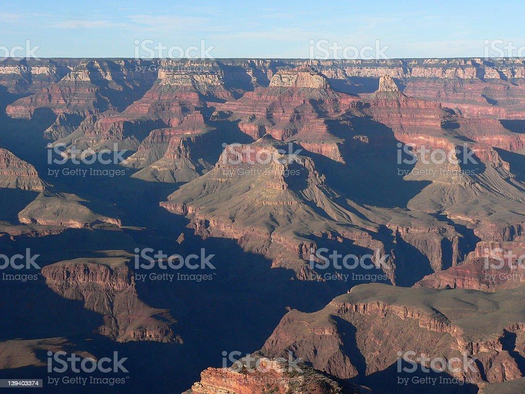 Dusk at Grand Canyon royalty-free stock photo