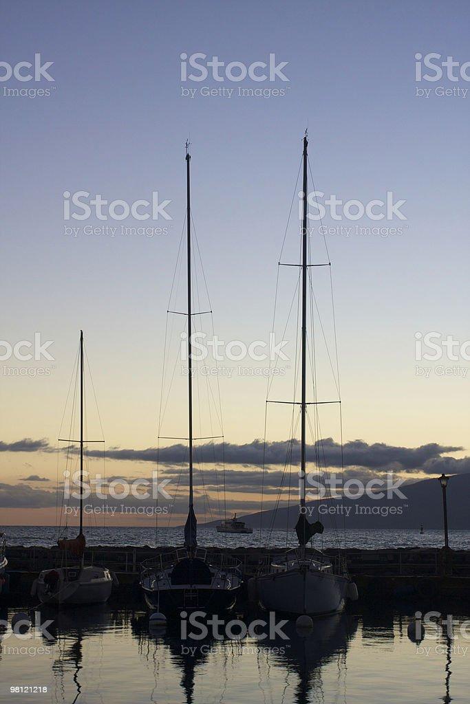 Dusk at sea royalty-free stock photo