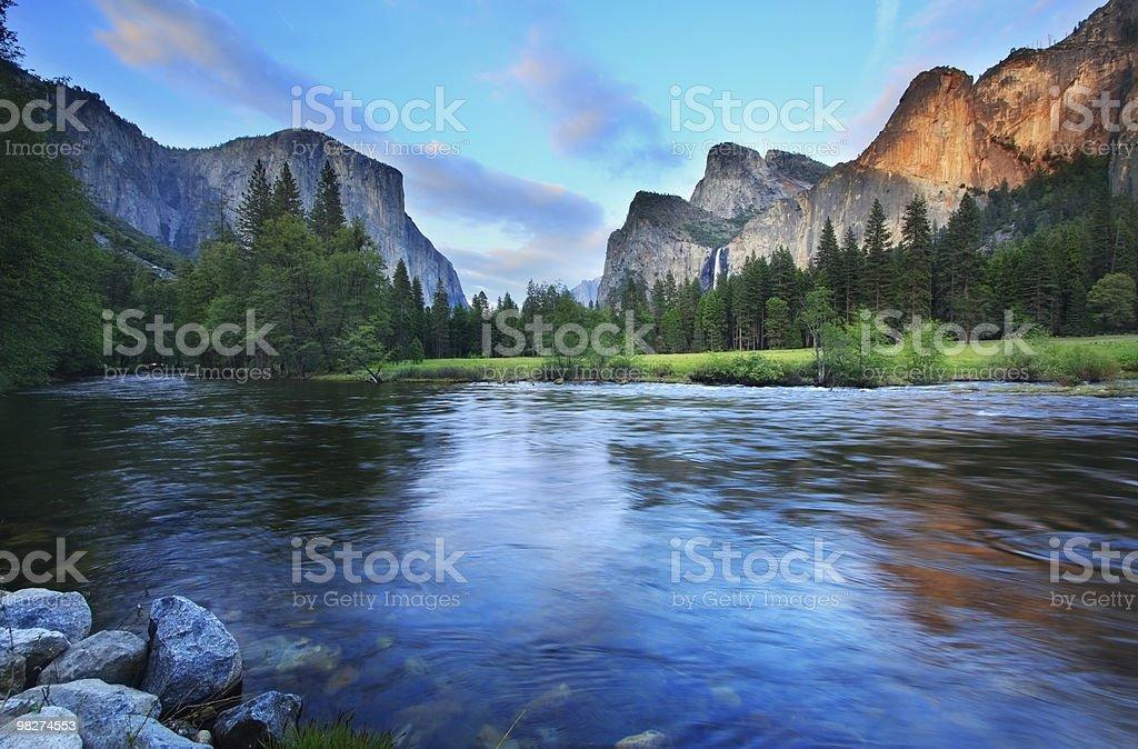 Crepuscolo di Yosemite foto stock royalty-free