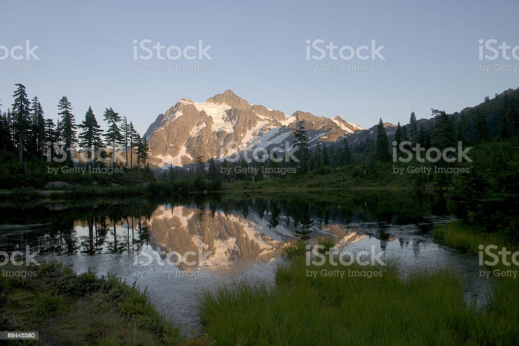 Dusk descends on Mt. Shuksan royalty-free stock photo