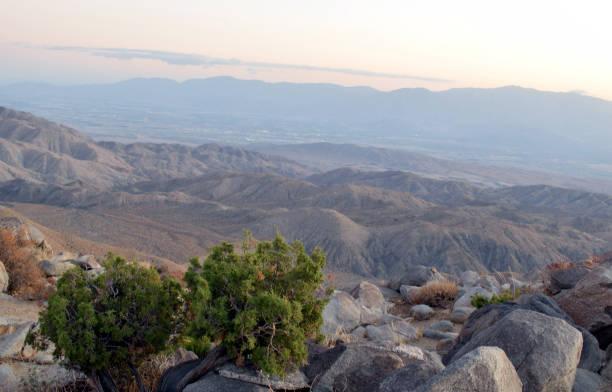 Dusk Falls on the Coachella Valley stock photo