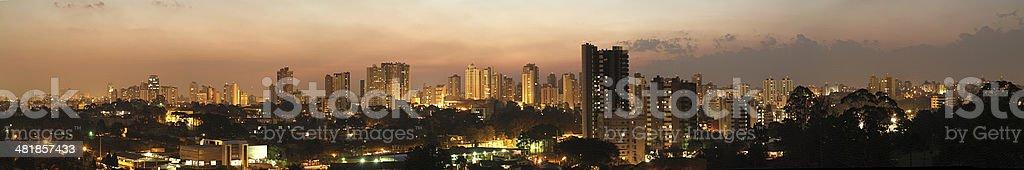Dusk in Curitiba Parana Brazil stock photo