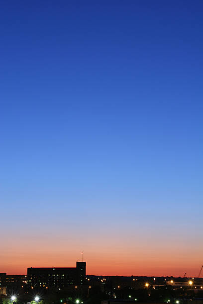 Dusk in Dayton Ohio1 Cityscape Skyline stock photo