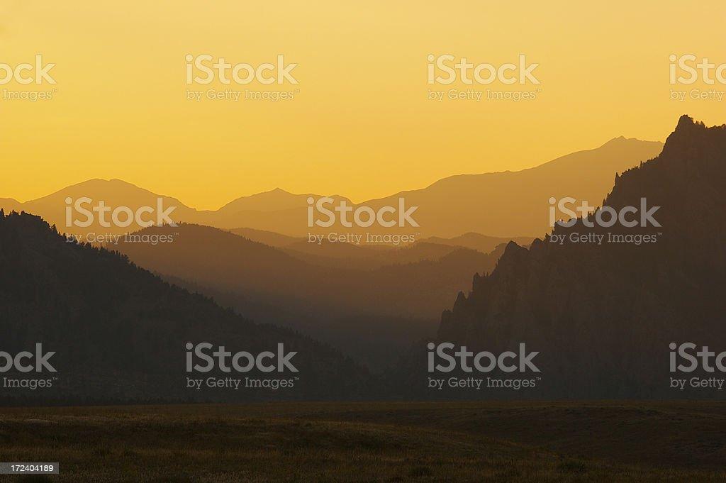 Dusk in Eldorado Canyon royalty-free stock photo