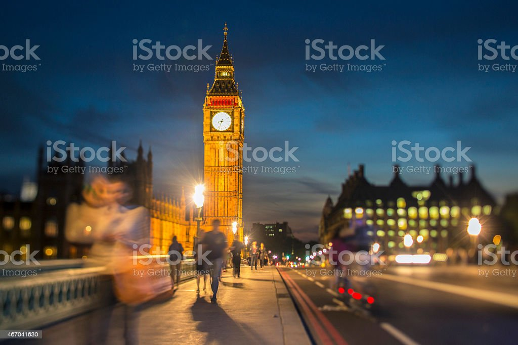 Dusk in London stock photo