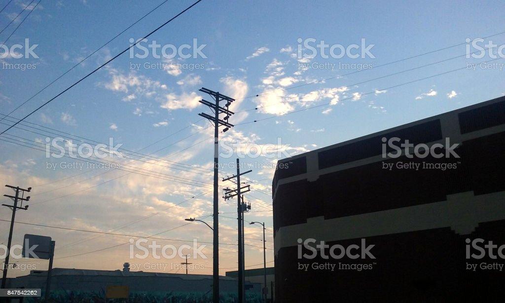 Dusk in Los Angeles stock photo